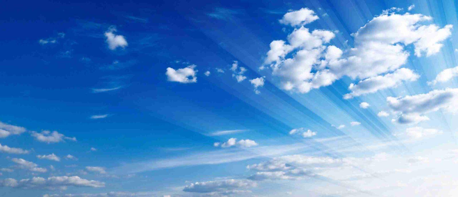 cloudflare rocket loader clouds in blue sky