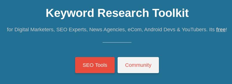 free keyword tool online