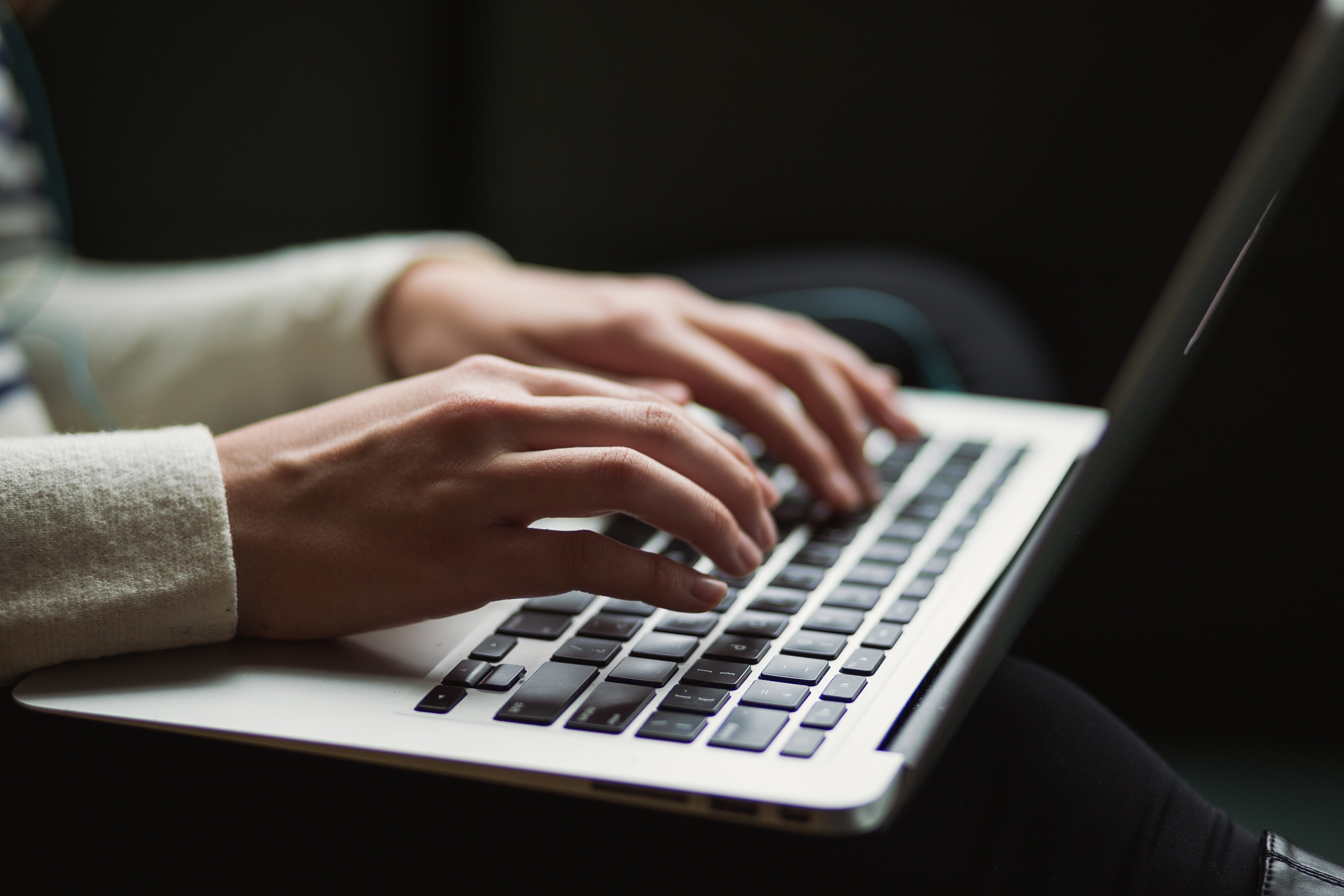 updating your blog on a laptop