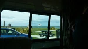 ferry ship coming into larne harbour from cairnryan