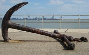 What is Anchor Text and Do I need to Use It? picture of large ship anchor on seafront